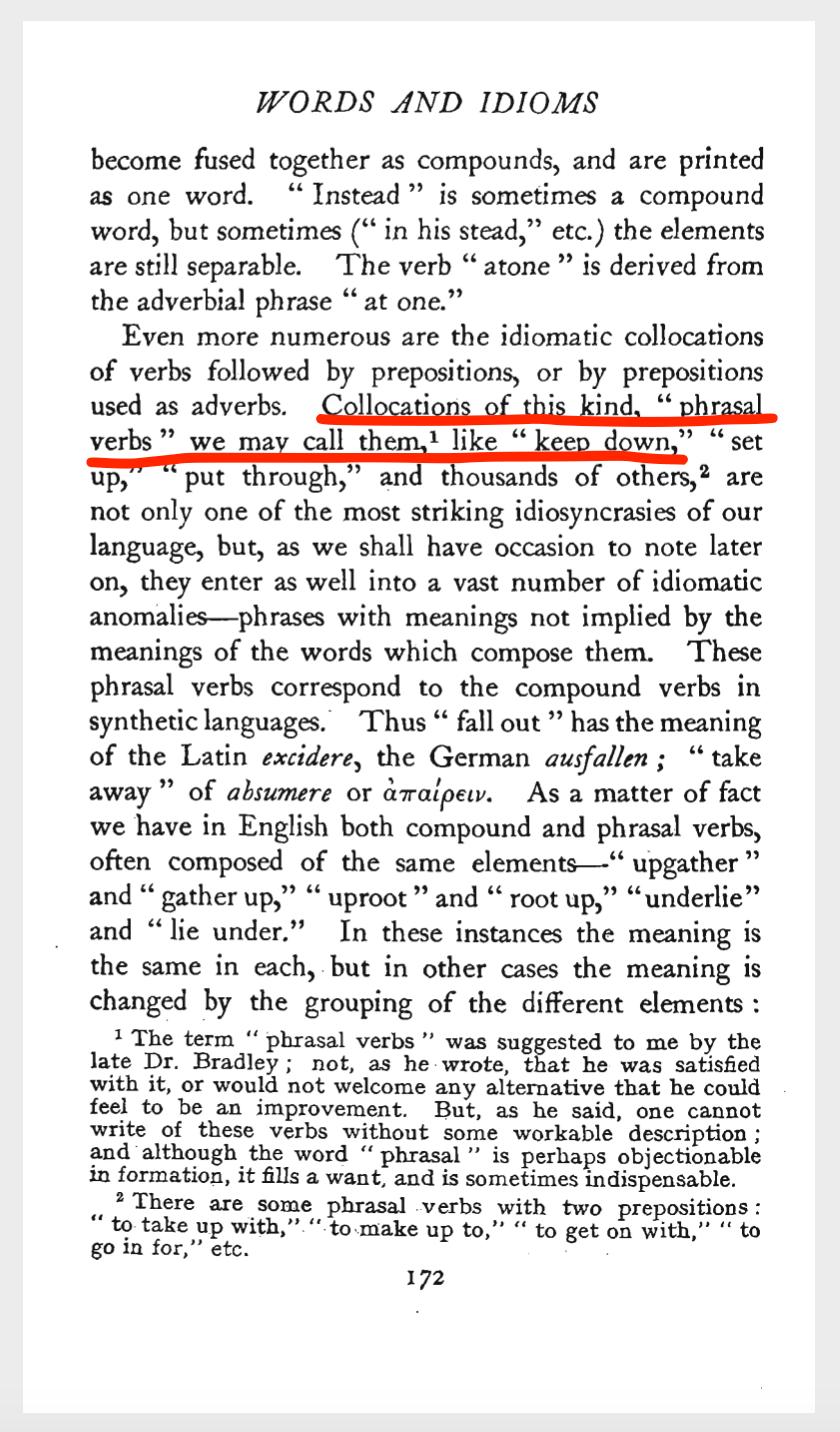 172 страница рукописи Логана Пирсола Смита, Слова и идиомы