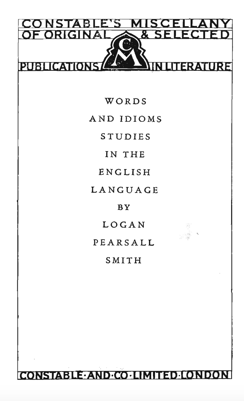 words-and-idioms-1925-title
